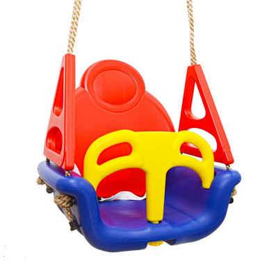 LittleTom Einzelschaukel »3-in-1 Kinderschaukel Baby Garten Schaukel Kinder«, Blau-Rot 49x48x34cm
