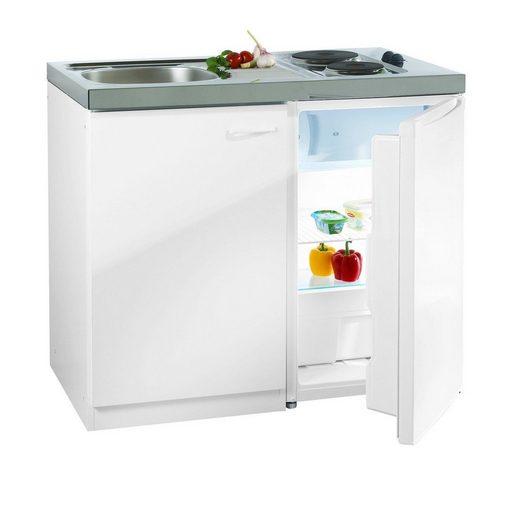 Miniküche mit DUO Kochmulde und Kühlschrank