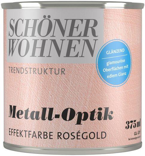 SCHÖNER WOHNEN-Kollektion Wandfarbe »Metall-Optik Effektfarbe roségold«, glänzend 0,375 l