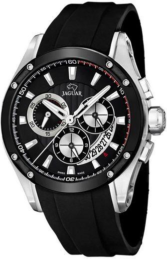 Jaguar Chronograph »UJ688/1 Jaguar Herren Uhr Sport J688/1 PUR«, (Chronograph), Herren Armbanduhr rund, PURarmband schwarz, Sport