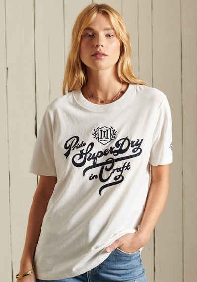 Superdry T-Shirt mit großem Logodruck