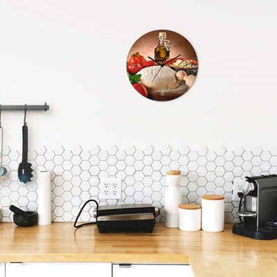 Artland Wanduhr »Teig für Pizza« (lautlos, ohne Tickgeräusche, nicht tickend, geräuschlos - wählbar: Funkuhr o. Quarzuhr, moderne Uhr für Wohnzimmer, Küche etc. - Stil: modern)