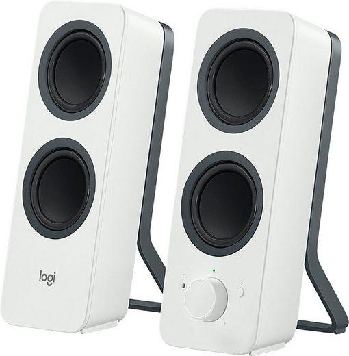 Logitech Z207 Bluetooth Lautsprecher PC-Lautsprecher (5 W, Bedienelemente für Bluetooth-Pairing, Lautstärkeregelung)