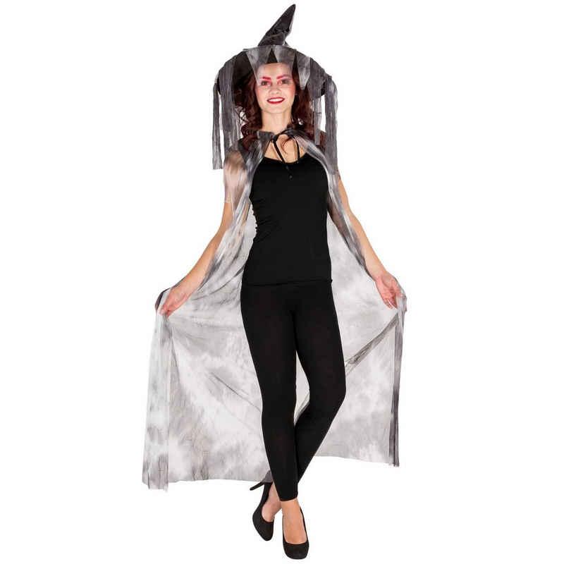 dressforfun Hexen-Kostüm »Hexen Umhang mit Spitzhut«