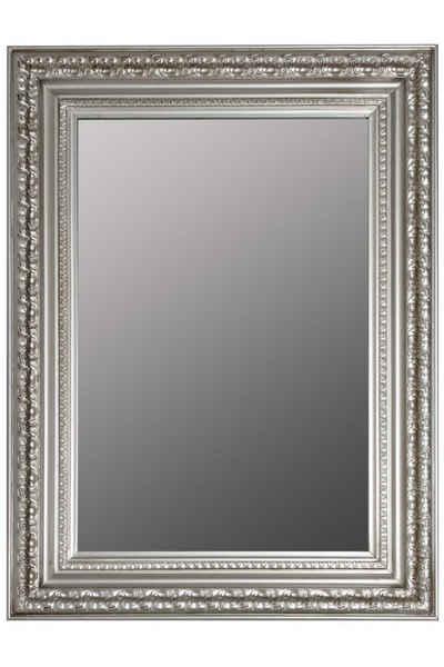 elbmöbel Wandspiegel »Wandspiegel Silber 1001 Nacht«, Wandspiegel: Groß 82x62x7 cm Silber barock verziert Holz