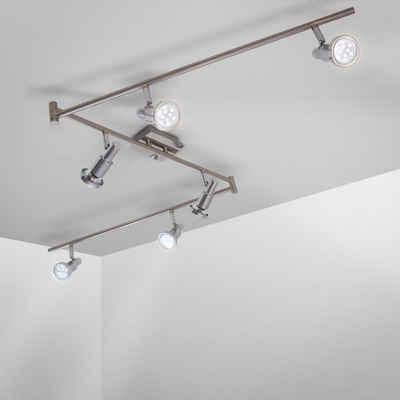 B.K.Licht LED Deckenspots, LED Deckenleuchte schwenkbar drehbar chromfarbene Spots inkl. 5W 400lm GU10 Spotleuchte