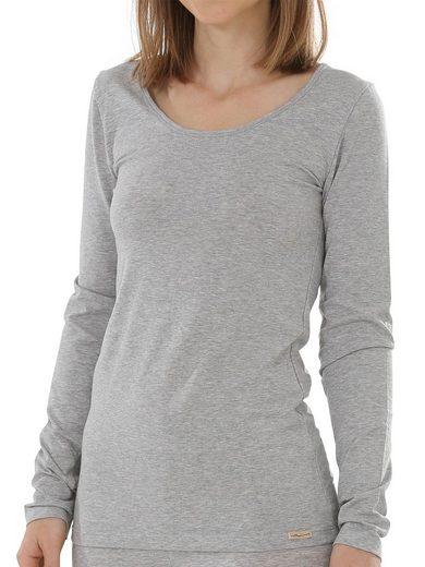 COMAZO Unterhemd »Damen Baumwoll Langarm Shirt« (1 Stück), Vegan