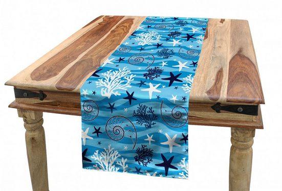 Abakuhaus Tischläufer »Esszimmer Küche Rechteckiger Dekorativer Tischläufer«, Unterwasser- Muscheln Meeresseegurke