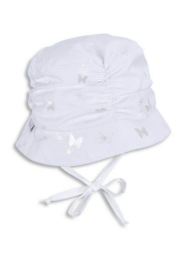 Sterntaler® Sonnenhut »Hut« mit Größenregulierungsband, Ohrenklappen und Bindeband; gefüttert mit Batist