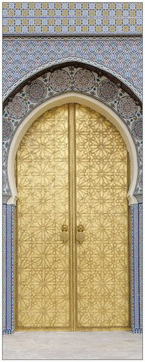 MySpotti Spritzschutz »fresh F1 Ancient Door«, 100 x 255 cm