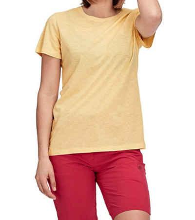 Mammut Blusentop »MAMMUT Pastel T-Shirt leichtes Damen Freizeit-Shirt aus luftigem Baumwoll-Viskose-Mix Sommer-Shirt Gelb«