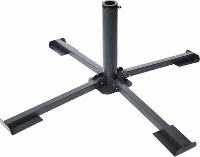 Meinposten Schirmständer »Plattenständer Sonnenschirm Metall grau Ständer für 40x40 Platten« (1 Stück), Passend für Schirmrohr-Ø: 35 bis 48 mm