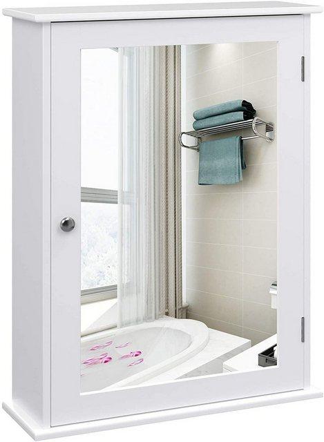 Spiegel - VASAGLE Badezimmerspiegelschrank »LHC001« Spiegelschrank fürs Bad, Badschrank, weiß  - Onlineshop OTTO