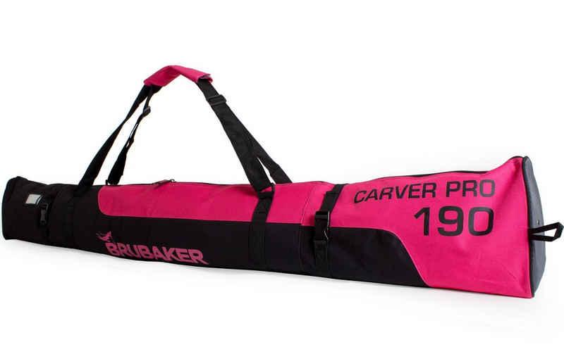 BRUBAKER Sporttasche »Carver Pro Skitasche« (1-tlg., reißfest und schnittfest), gepolsterter Skisack mit Zipperverschluss
