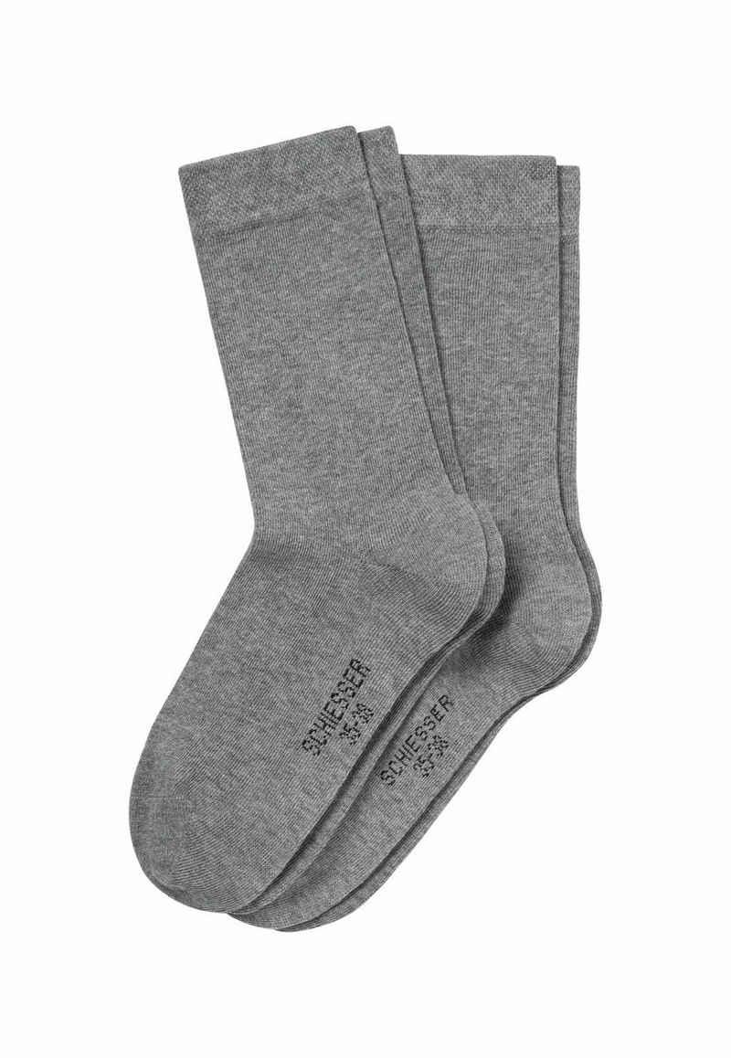 Schiesser Kurzsocken »Damen Socken 2 Pack Cotton Fit, Einfarbig«