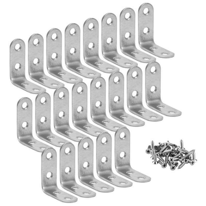 Einfeben Eckverbinder »20x Winkelverbinder Edelstahl 4x4x1.6cm Silber Holzverbinder Lochwinkel«
