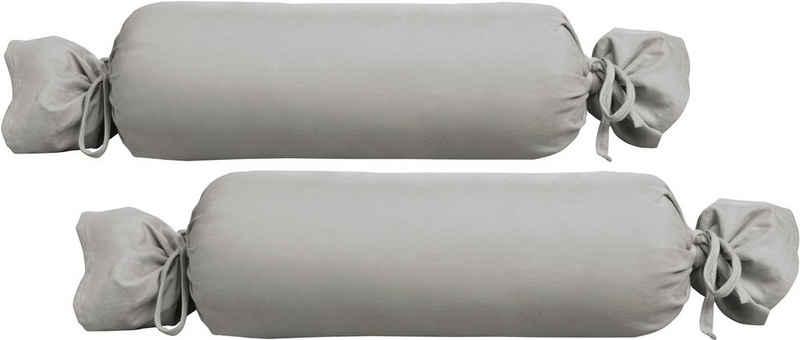 Nackenrollenbezug »Michi«, Biberna (2 Stück), Jersey (1 Pack mit 2 Stück), dichte, feinfädige Single-Qualität