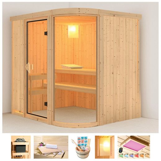 KARIBU Sauna »Föhr 2«, 196x151x198 cm, ohne Ofen