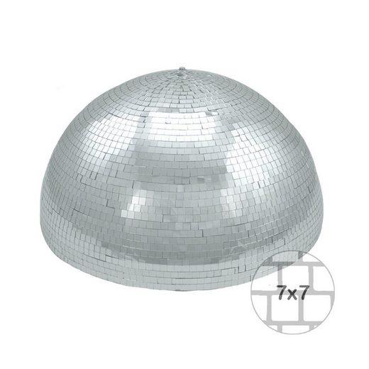 SATISFIRE Discolicht »Spiegelkugel halb 50cm - für Deckenmontage - Diskokugel Echtglas - 7x7mm Spiegel - PREMIUM«