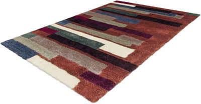 Hochflor-Teppich »Menari 8084«, calo-deluxe, rechteckig, Höhe 30 mm, besonders weich durch Microfaser, Wohnzimmer