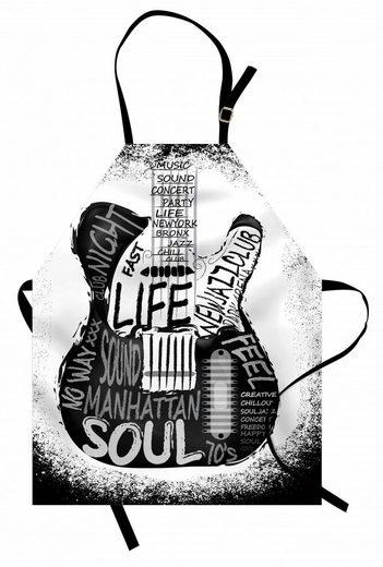 Abakuhaus Kochschürze »Höhenverstellbar Klare Farben ohne verblassen«, Gitarre Flüchtiger Kalligraphie New Jazz