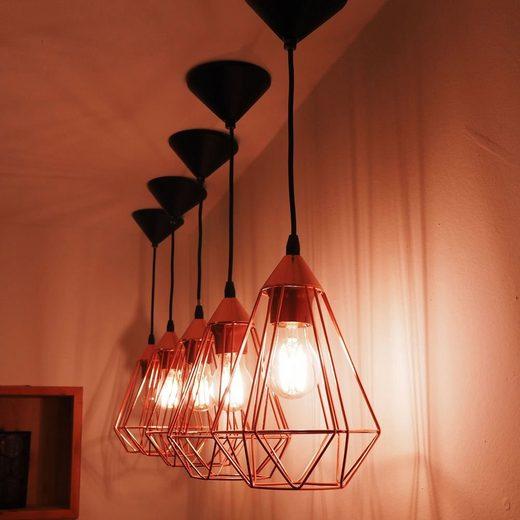 Licht-Trend Pendelleuchte »Archaic M im Vintage-Look in Kupfer«