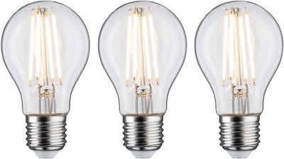 Paulmann »3er Pack 9W E27 2700K klar dimmbar« LED-Filament, E27, 3 Stück, Warmweiß