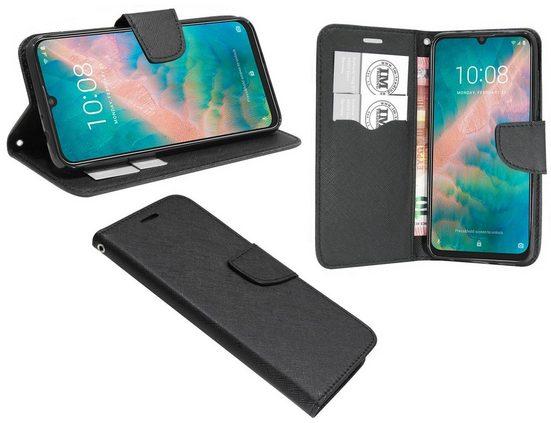 cofi1453 Handyhülle »Hülle Tasche für ZTE Blade V10«, Kunstleder Schutzhülle Handy Wallet Case Cover mit Kartenfächern, Standfunktion Schwarz