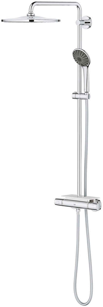 Grohe Duschsystem »Vitalio System 310«, Höhe 111,6 cm, 4 Strahlart(en), Set, mit Thermostatbatterie für die Wandmontage