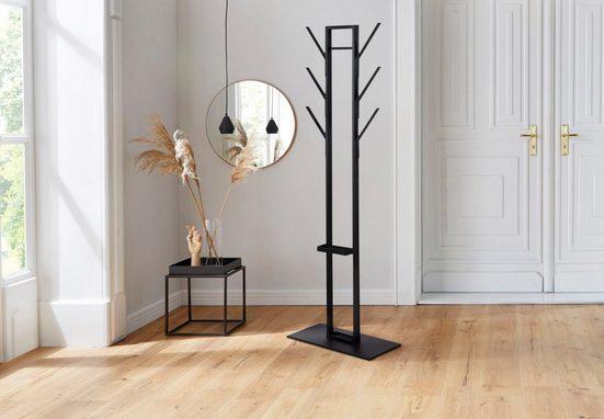 andas Kleiderständer »Vincent«, aus schönem schwarzen Metall gefertigt, Höhe 165 cm