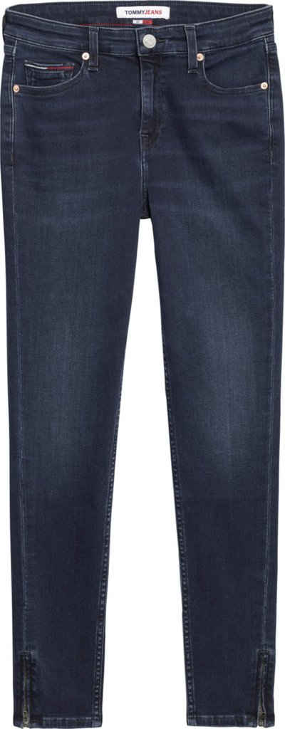 Tommy Jeans Skinny-fit-Jeans »NORA MR SKNY ANKLE BE134 MBST« mit Reißverschluss am Beinabschluss & Tommy Jeans Logo-Flag