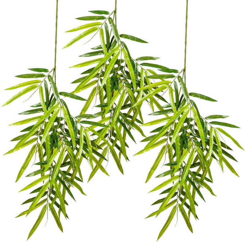 Kunstranke »Bambuszweig, hängend« Bambus, Creativ green, Höhe 80 cm, 3er Set