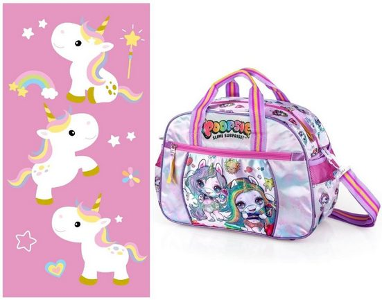 Poopsie Sporttasche »POOPSIE Slime Surprise - Sporttasche und Badetuch« (Reißverschluss, Mädchen), Geringes-Gewicht