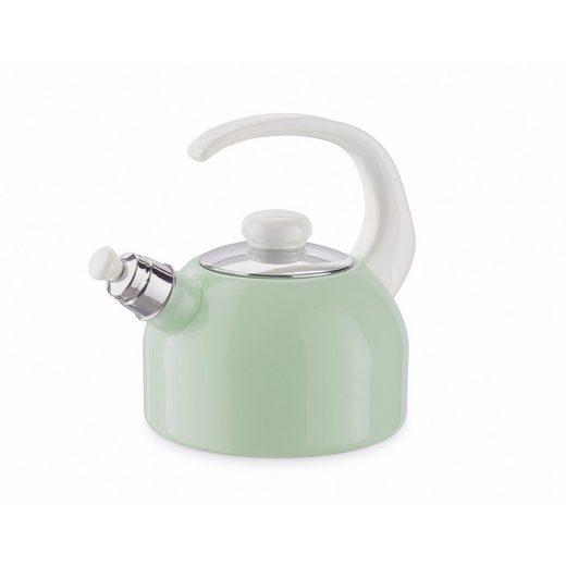 Riess Wasserkessel »Flötenkessel 2 Liter Pastell«, Premium-Email, (1-tlg), Empfohlen bei Nickelallergie