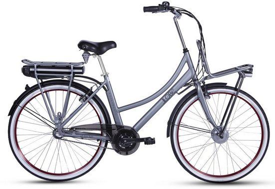 LLobe E-Bike »Rosendaal Lady 10,4 Ah«, 3 Gang, Nabenschaltung, Frontmotor 250 W, Gepäckträger vorne