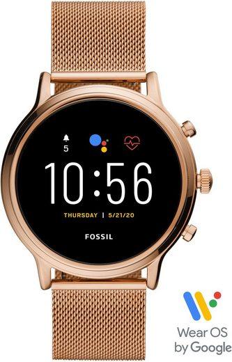 Fossil Smartwatches JULIANNA HR SMARTWATCH, FTW6062 Smartwatch (1.28 Zoll, Wear OS by Google, mit individuell einstellbarem Zifferblatt)