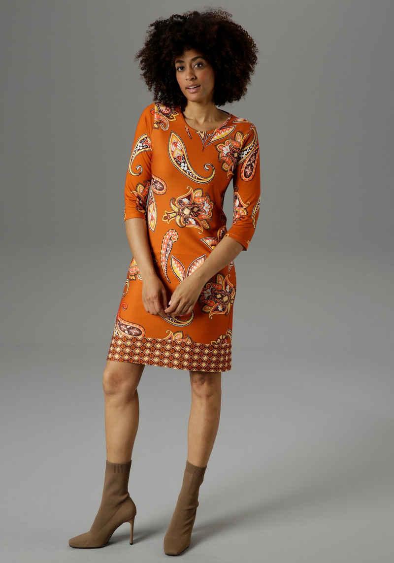 Aniston SELECTED Jerseykleid mit farbenfrohem Paisleydruck - NEUE KOLLEKTION
