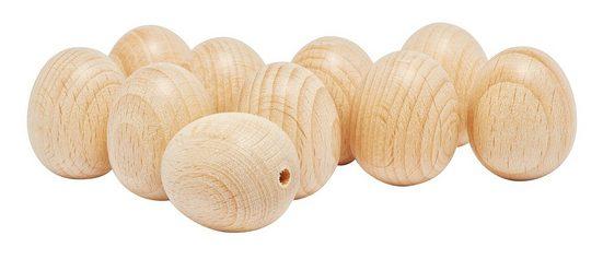 VBS Osterei »Holz-Eier«, oben gebohrt, 25 x 30 mm