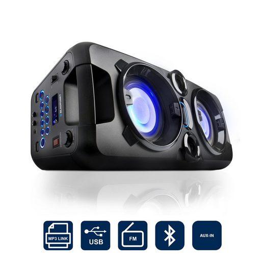Blaupunkt PS 1000 Party-Lautsprecher (Bluetooth, 2 W, Party-Lautsprecher mit Bluetooth, integrierter Akku, inkl. Mikrofon)
