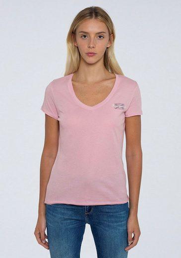 Pepe Jeans Kurzarmshirt »BLEU« in schlichtem Design mit kleinem Marken-Logo-Print