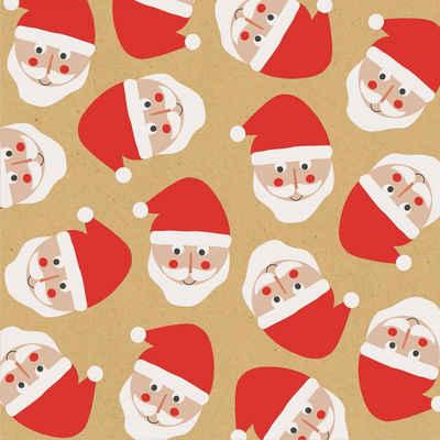 stewo Papierserviette »Santa Faces«, (5 St), 33 cm x 33 cm