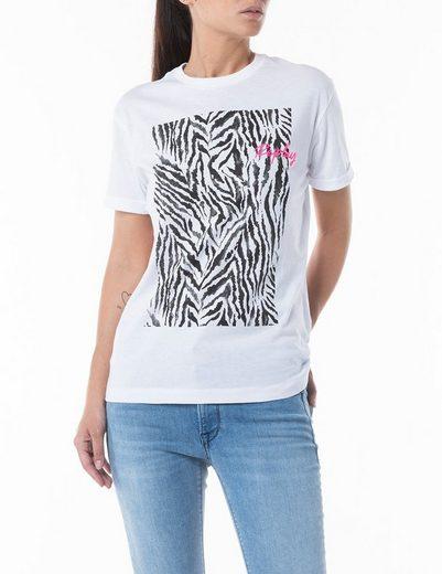 Replay T-Shirt mit Neon-Markenschriftzug