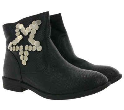 Arizona »ARIZONA Schuhe Boots coole Damen Stiefeletten mit Nieten Stiefel Schwarz« Stiefelette