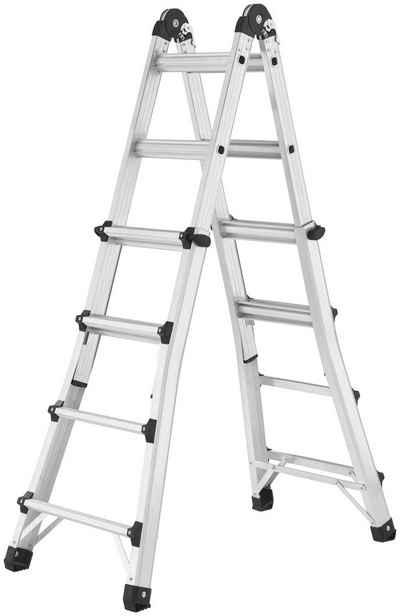 Hailo Bockleiter »M80«, Aluminium-Multifunktionsleiter 4x4 Sprossen