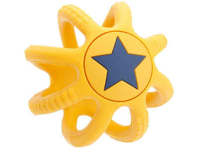 BIECO Beißring »Bieco Beißring Baby Gelb, Ø 7 cm aus Silikon Stressball zum Kneten Greifball Für Babys Beissring Für Baby Zum Zahnen Motorikspielzeug Baby Ball Kinder Knetball für Hände Therapie«