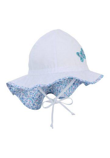 Sterntaler® Sonnenhut »Flapper« aus Bio-UV-Popeline und Bio-Baumwolle; mit Bindeband und Größenregulierungsband