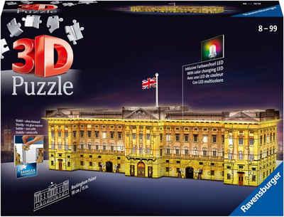 Ravensburger 3D-Puzzle »Buckingham Palace bei Nacht«, 216 Puzzleteile, mit Leuchtmodul inkl. LEDs; Made in Europe, FSC® - schützt Wald - weltweit