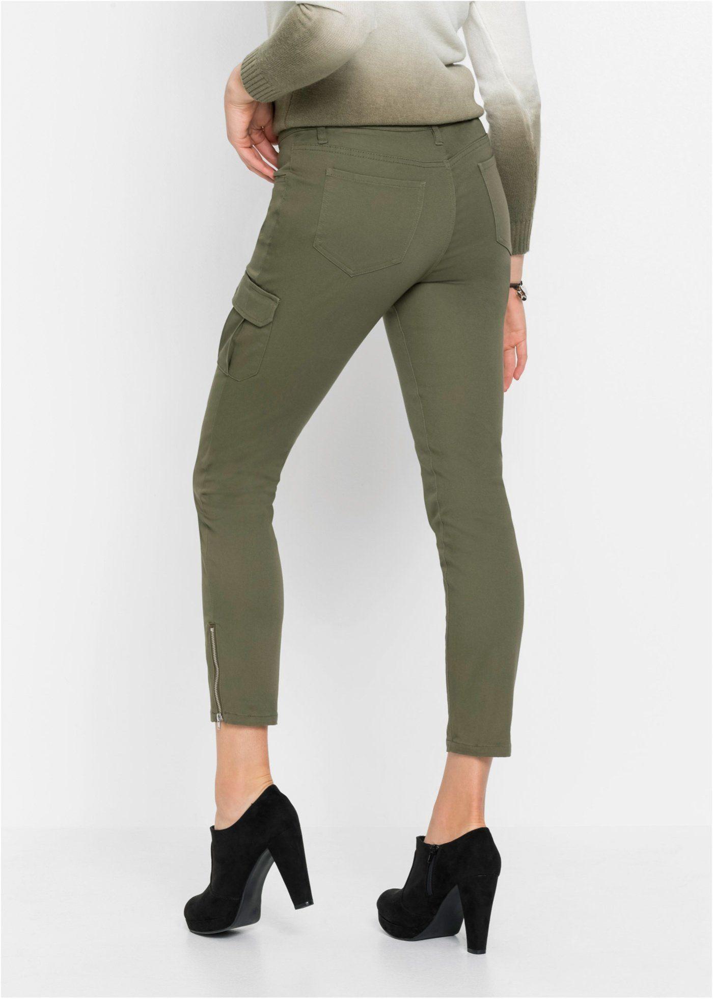 bonprix 7/8-Jeans Skinny Jeans mit offener Knopfleiste
