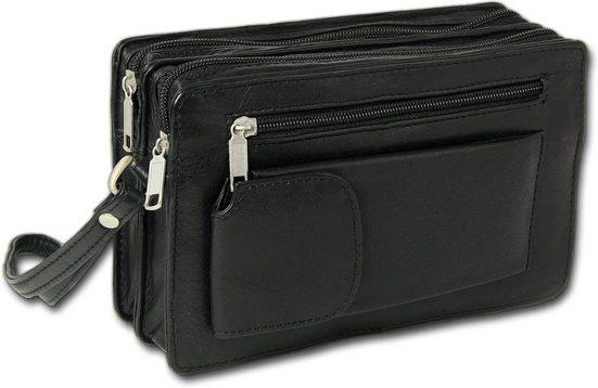 DrachenLeder Handgelenktasche »D2OTJ500S DrachenLeder Leder Geldbörse Herren«, Herren Handgelenktasche Leder, schwarz ca. 21cm x ca. 13cm