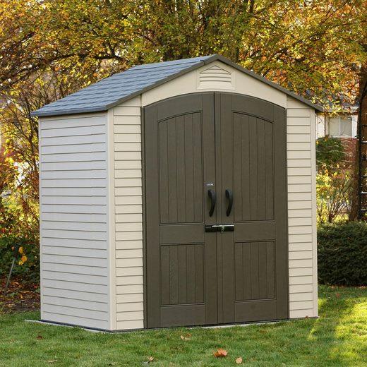 Lifetime Gerätehaus »Starlet«, BxT: 215x143 cm, (Set), inkl. Fußboden und Regale